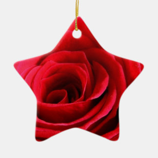 Red Macro Rose Christmas Tree Ornaments