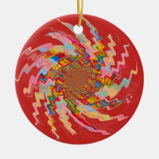 Red Magic Pinwheel Christmas Tree Bauble Christmas Ornament