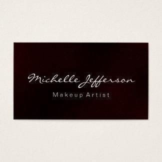 Red Makeup Artist Script Profession Business Card