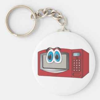 Red Male Microwave Cartoon Key Ring