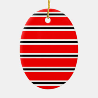 Red Manchester football bar scarf Christmas Ornament