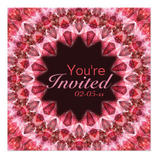 Red Mandala - 108 Custom Invites