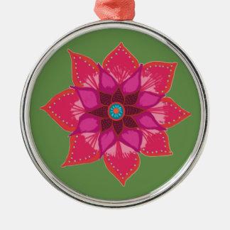 Red Mandala flower art Ceramic Decoration