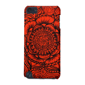 Red Mandala iPod Touch 5g Barely There Case iPod Touch 5G Case