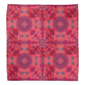 Red Mandala Kaleidoscope Bandana