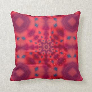 Red Mandala Kaleidoscope Cushion