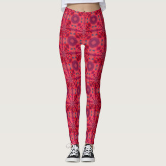 Red Mandala Kaleidoscope Leggings