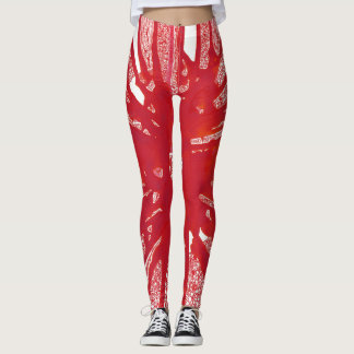 Red Mandala Leggings