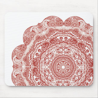 Red Mandala Mousepad