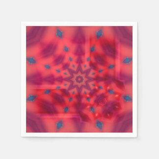 Red Mandala Paper Napkins