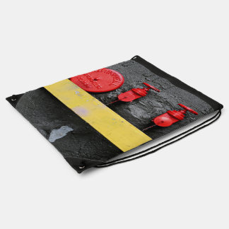 red manual fire alarm backpacks