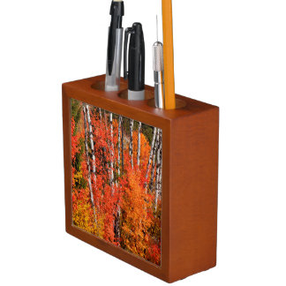 Red Maple (Acer Rubra) And Aspens Desk Organiser