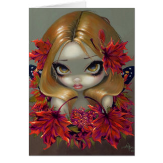 Red Maple Fairy Greeting Card