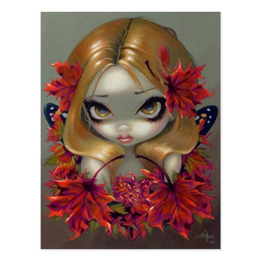 """""""Red Maple Fairy"""" Postcard"""