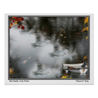 Red Maple, Grey Water Posters