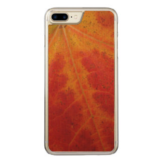 Red Maple Leaf Abstract Autumn Nature Photography Carved iPhone 8 Plus/7 Plus Case
