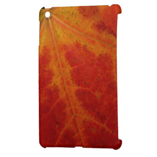 Red Maple Leaf Abstract Autumn Nature Photography iPad Mini Covers