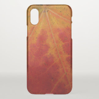 Red Maple Leaf Abstract Autumn Nature Photography iPhone X Case