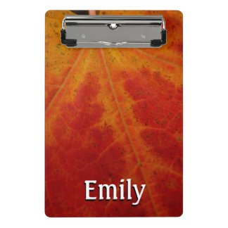 Red Maple Leaf Abstract Autumn Nature Photography Mini Clipboard