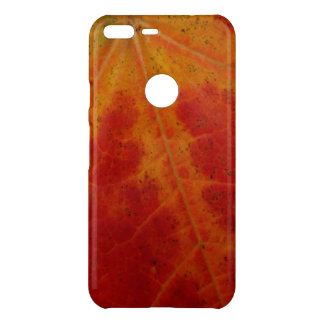 Red Maple Leaf Abstract Autumn Nature Photography Uncommon Google Pixel XL Case