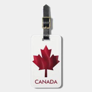 Red Maple Leaf Bag Tag