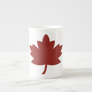 Red Maple Leaf Bone China Mugs