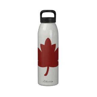 Red Maple Leaf Drinking Bottle