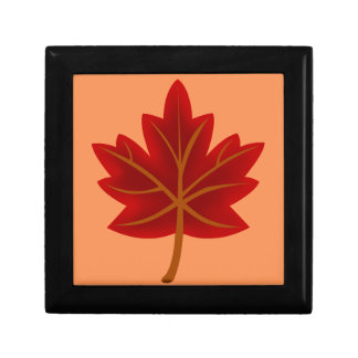 Red Maple Leaf Small Square Gift Box