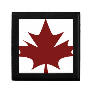 Red Maple Leaf Icon Small Square Gift Box