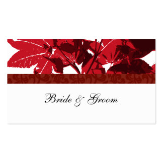 Red Maple Leaf Place Cards Business Cards