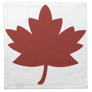 Red Maple Leaf Printed Napkins