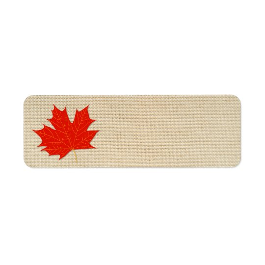 Red maple leaf return address label