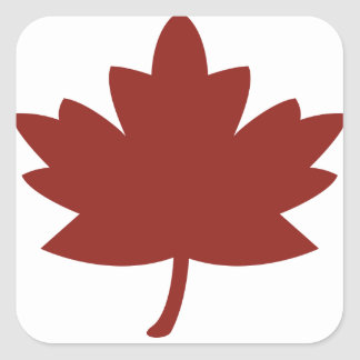 Red Maple Leaf Square Stickers