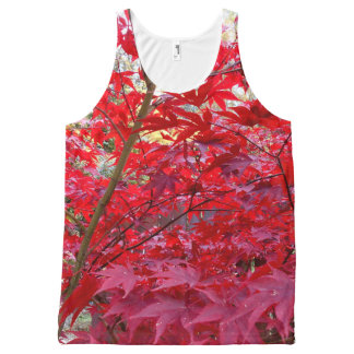 Red Maple Leaves All-Over Print Tank Top