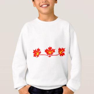 Red Maple Leaves Canadian Standard Symbol Sweatshirt