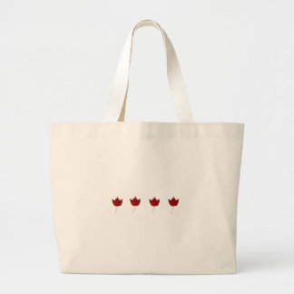 Red Maple Leaves Fall Logo Tote Bags