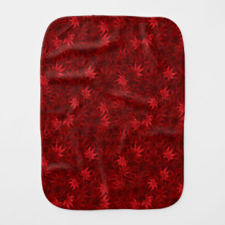 Red maple leaves pattern burp cloth