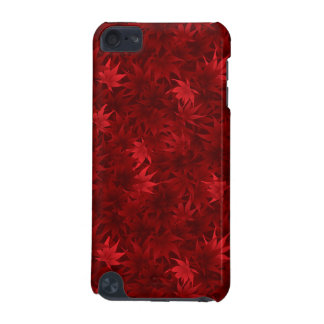 Red maple leaves pattern iPod touch 5G cover