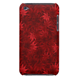 Red maple leaves pattern iPod touch covers