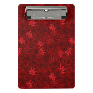 Red maple leaves pattern mini clipboard