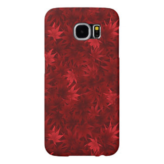 Red maple leaves pattern samsung galaxy s6 cases