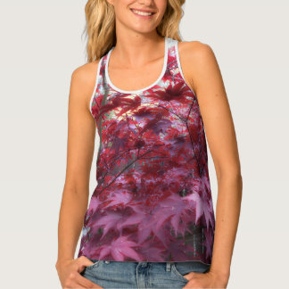 Red Maple Leaves Tank Top