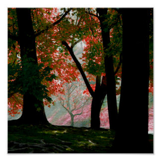 Red Maple Tree Foliage Poster