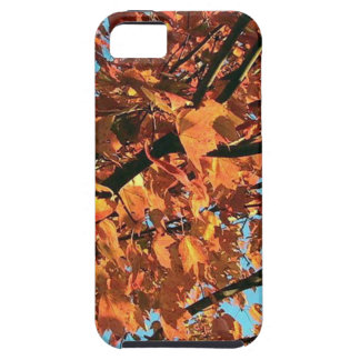 RED MAPLE TREE IN AUTUMN FALL TOUGH iPhone 5 CASE