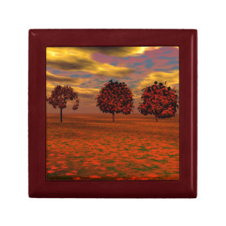 Red Maples Small Square Gift Box