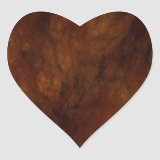 Red Marble Abstract Fractal Heart Sticker