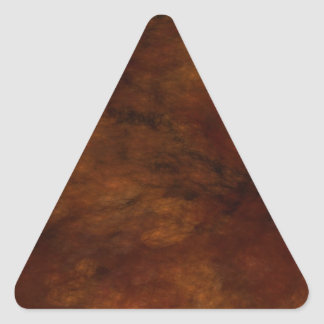 Red Marble Abstract Fractal Triangle Sticker