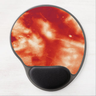 Red Marble Stained Stone Halloween Prop Blood Look Gel Mouse Pad