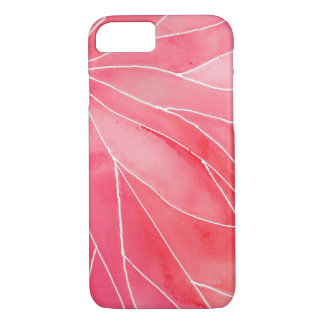 Red Marble Watercolour Break iPhone 8/7 Case