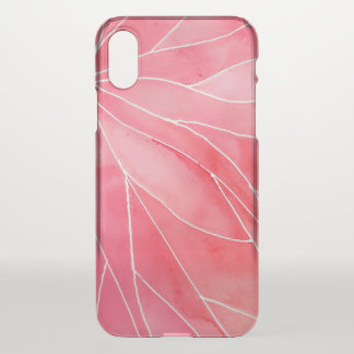 Red Marble Watercolour Break iPhone X Case
